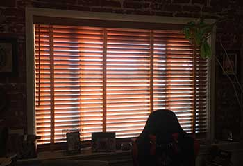 Motorized Faux Wood Blinds Next To Burbank CA