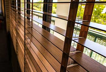 Motorized Wood Blinds | Glassell Park | LA Master Blinds