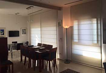 Roman Shades in Dining | Master Blinds Thousand Oaks, CA